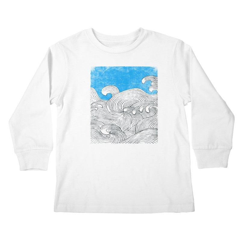 Waves Kids Longsleeve T-Shirt by bulo
