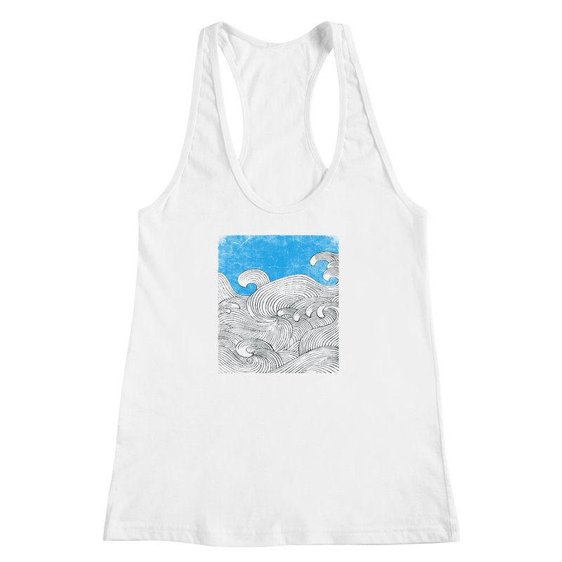 Waves Women's Racerback Tank by bulo