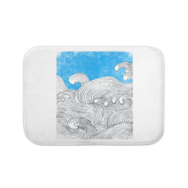 Waves Home Bath Mat by bulo