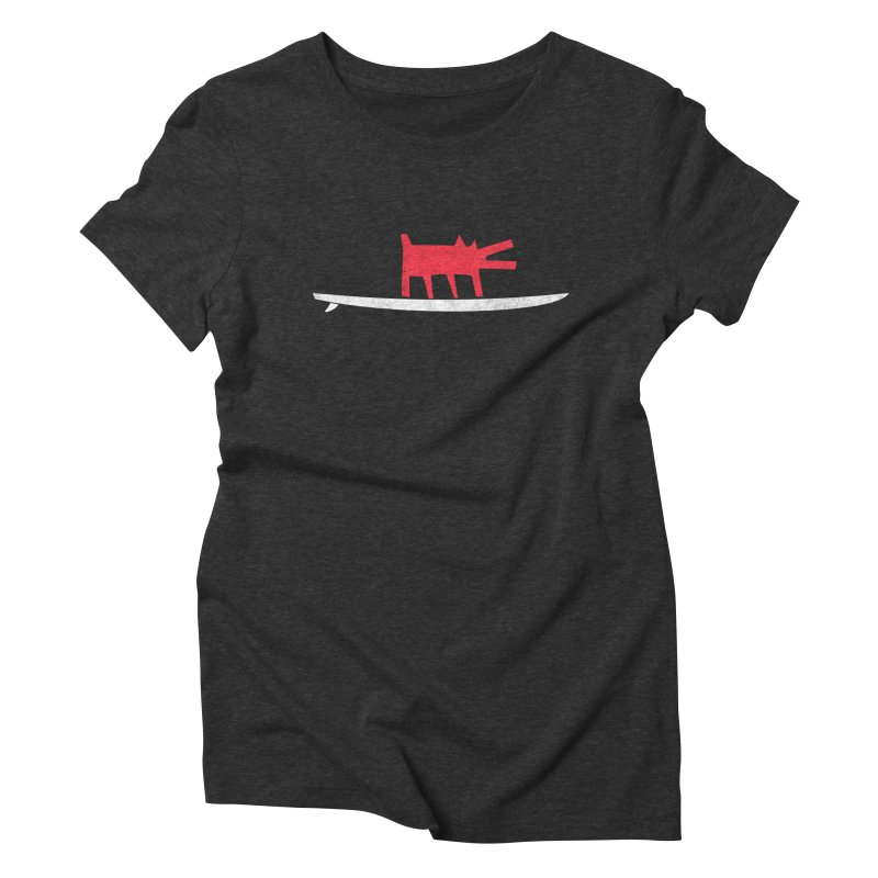 Funboard (Haring's Dog Version) Women's Triblend T-Shirt by bulo
