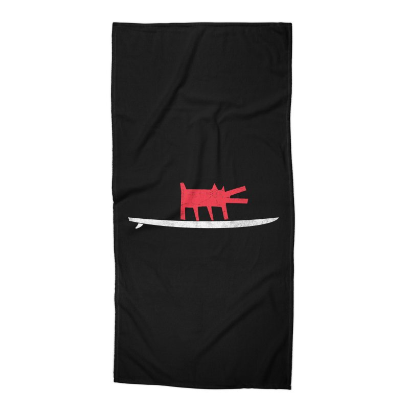 Funboard (Haring's Dog Version) Accessories Beach Towel by bulo