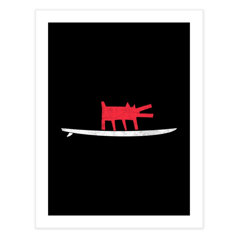 Funboard (Haring's Dog Version) Home Fine Art Print by bulo