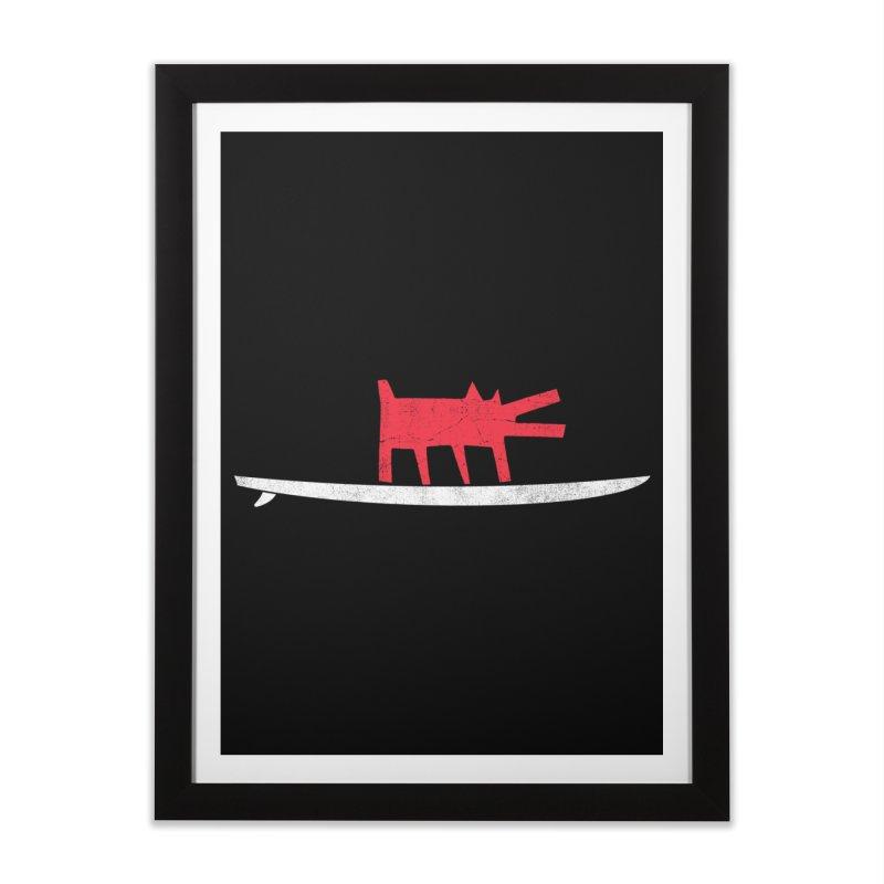 Funboard (Haring's Dog Version) Home Framed Fine Art Print by bulo