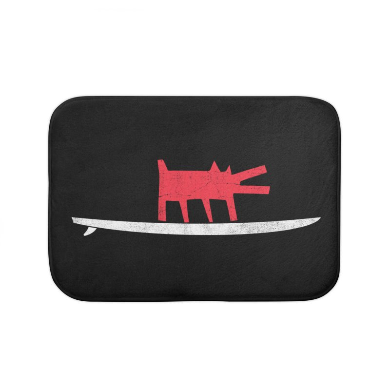 Funboard (Haring's Dog Version) Home Bath Mat by bulo