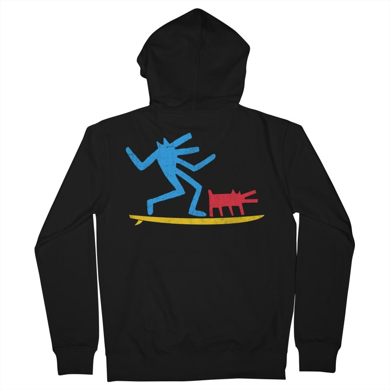 Funboard (primary colors version) Men's French Terry Zip-Up Hoody by bulo
