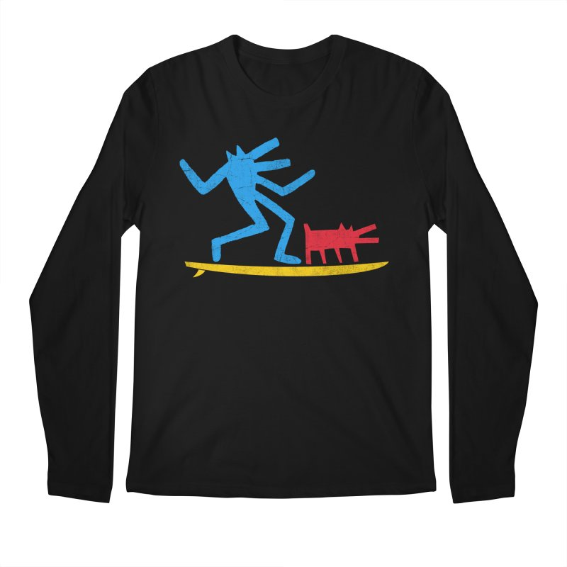 Funboard (primary colors version) Men's Regular Longsleeve T-Shirt by bulo