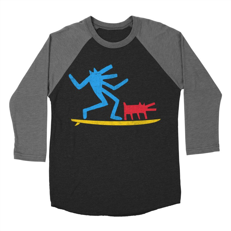 Funboard (primary colors version) Women's Baseball Triblend Longsleeve T-Shirt by bulo