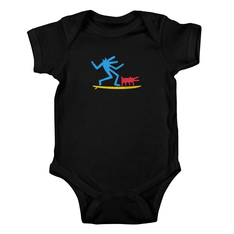 Funboard (primary colors version) Kids Baby Bodysuit by bulo
