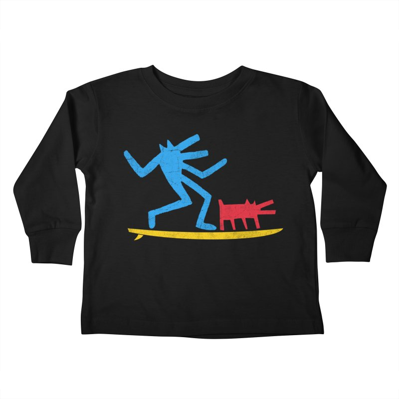 Funboard (primary colors version) Kids Toddler Longsleeve T-Shirt by bulo