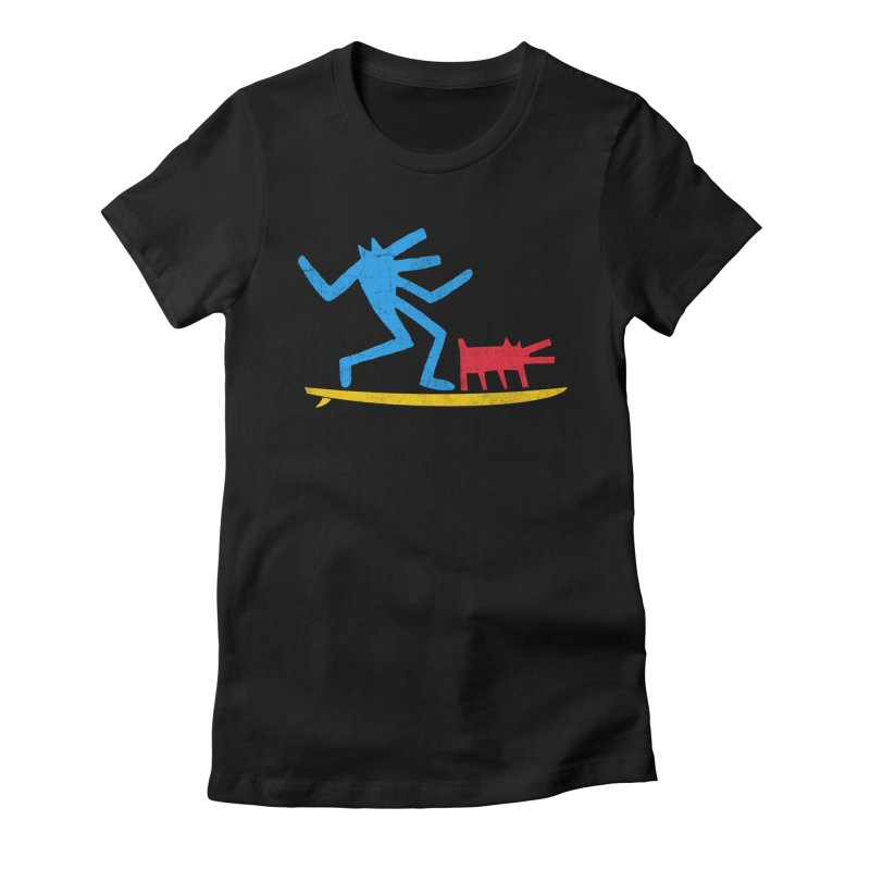 Funboard (primary colors version) Women's Fitted T-Shirt by bulo
