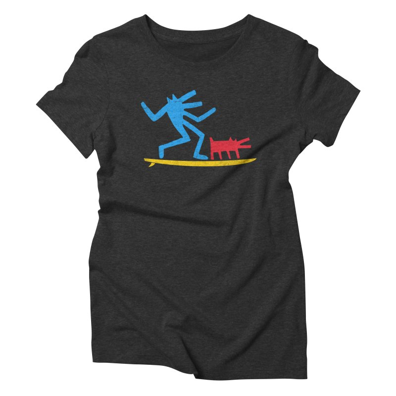 Funboard (primary colors version) Women's Triblend T-Shirt by bulo