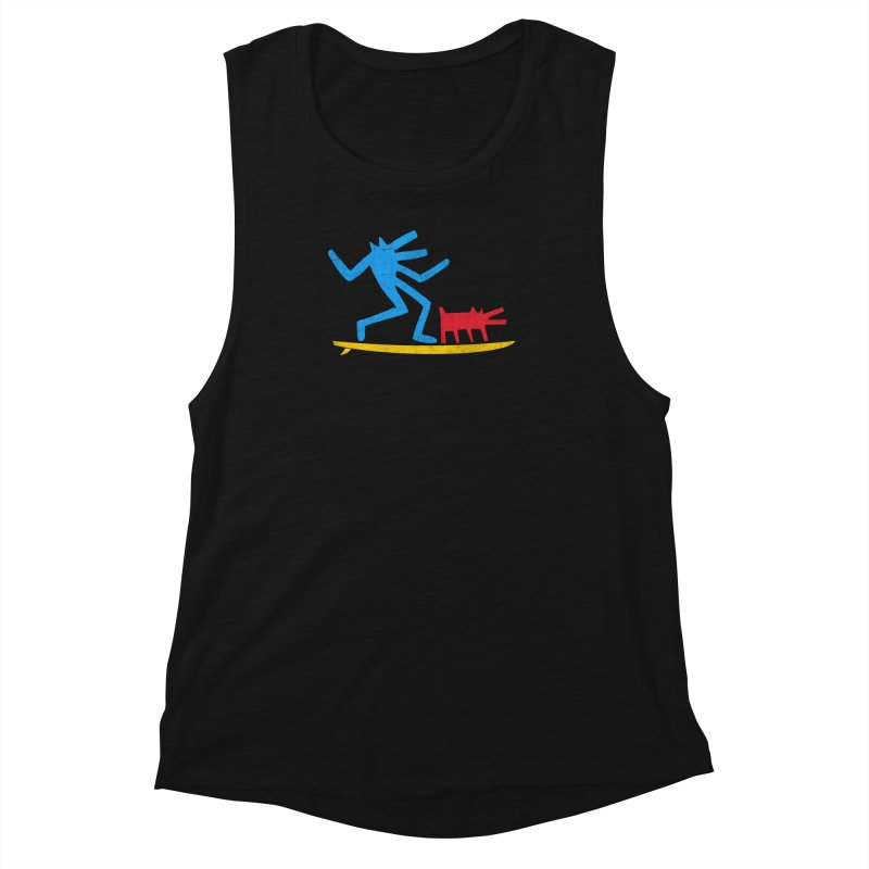 Funboard (primary colors version) Women's Muscle Tank by bulo