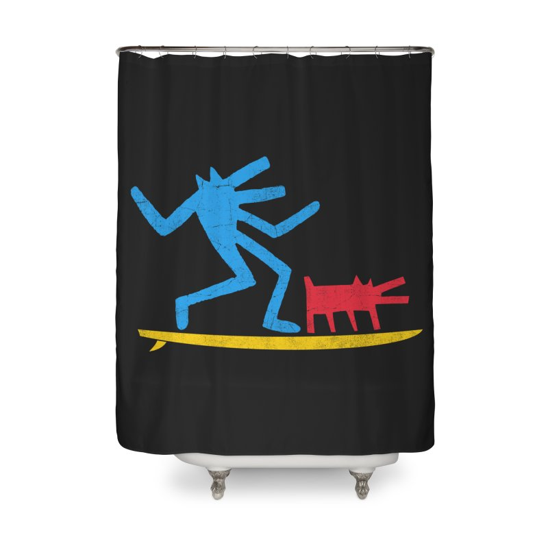 Funboard (primary colors version) Home Shower Curtain by bulo