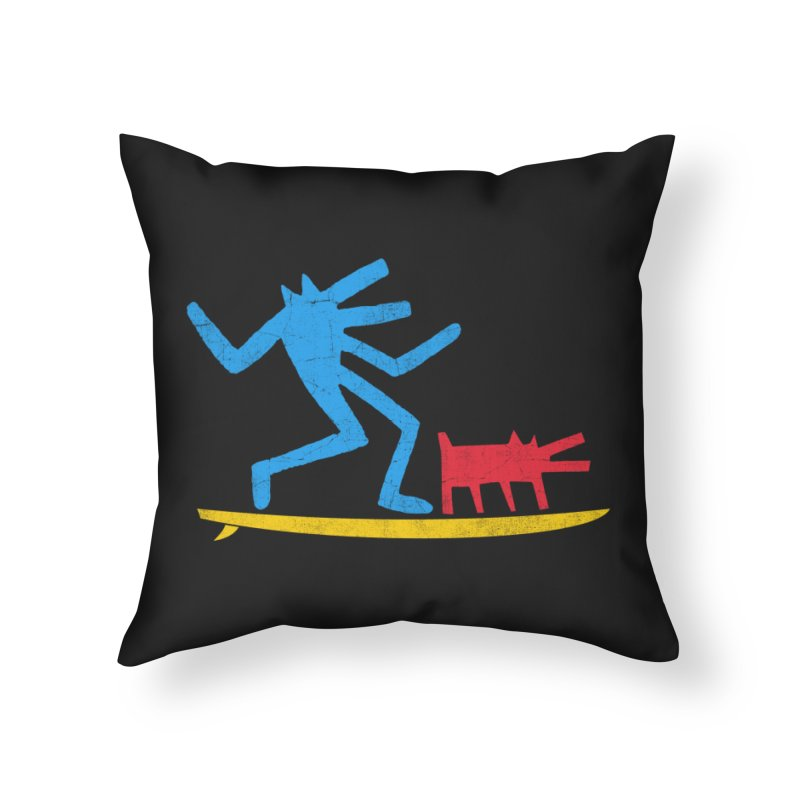 Funboard (primary colors version) Home Throw Pillow by bulo