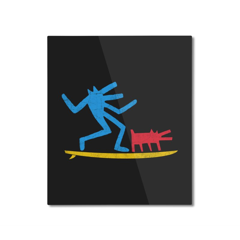 Funboard (primary colors version) Home Mounted Aluminum Print by bulo