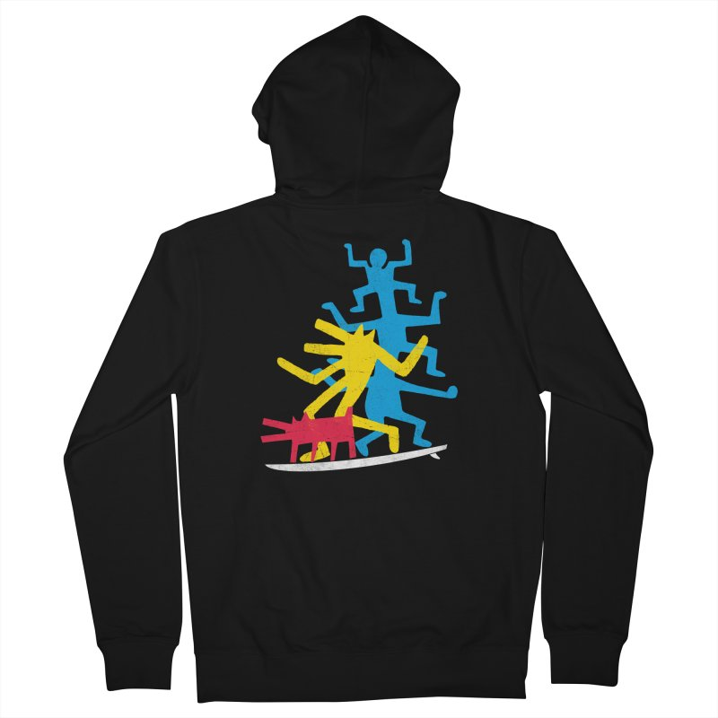 Funboard (threesome version) Men's French Terry Zip-Up Hoody by bulo