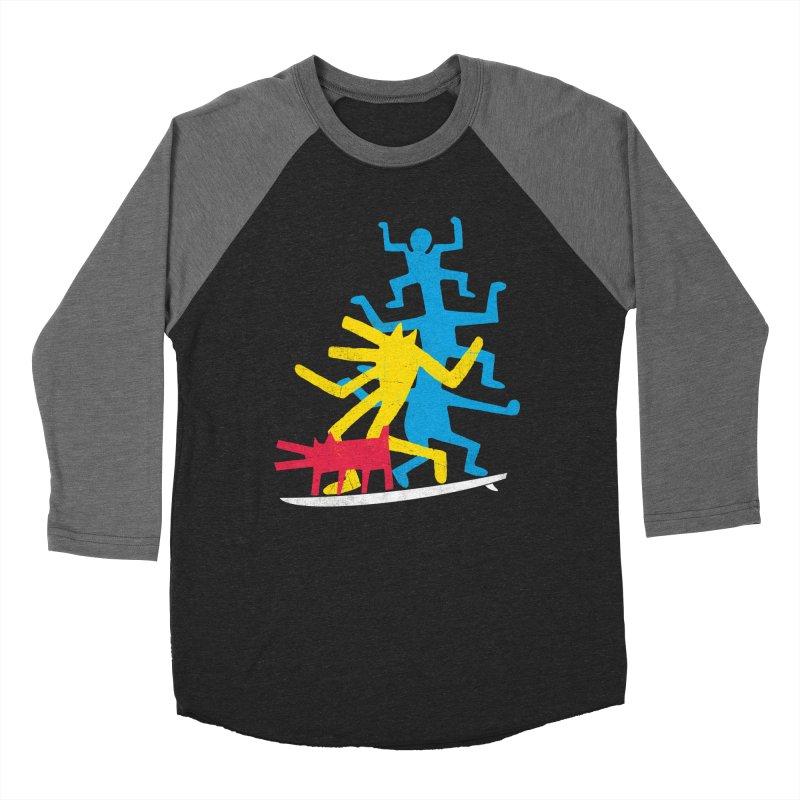 Funboard (threesome version) Women's Baseball Triblend Longsleeve T-Shirt by bulo