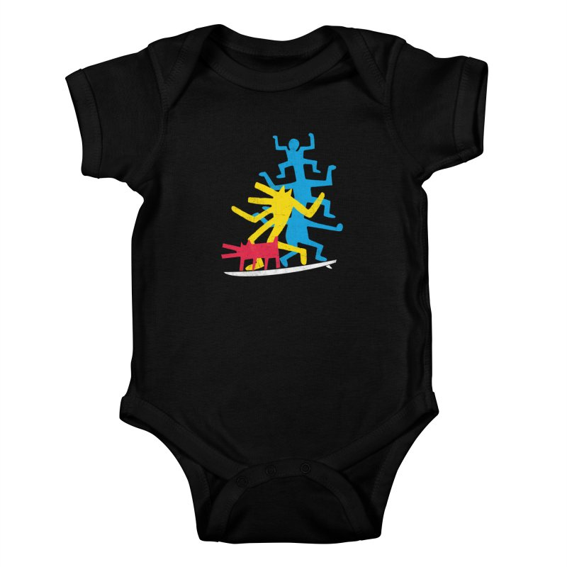 Funboard (threesome version) Kids Baby Bodysuit by bulo