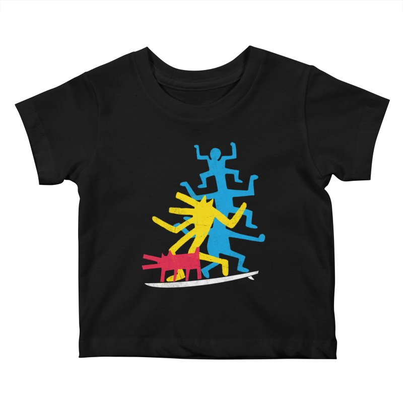Funboard (threesome version) Kids Baby T-Shirt by bulo