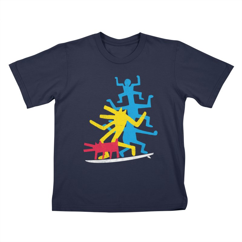 Funboard (threesome version) Kids T-Shirt by bulo