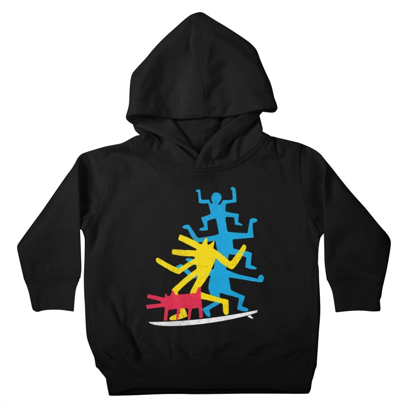 Funboard (threesome version) Kids Toddler Pullover Hoody by bulo