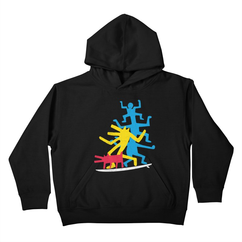 Funboard (threesome version) Kids Pullover Hoody by bulo