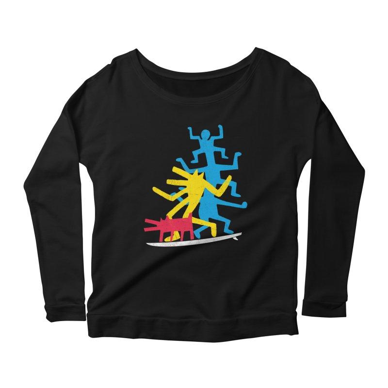 Funboard (threesome version) Women's Scoop Neck Longsleeve T-Shirt by bulo