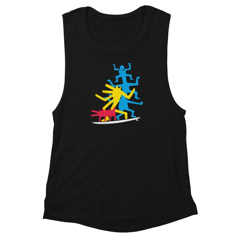 Funboard (threesome version) Women's Muscle Tank by bulo