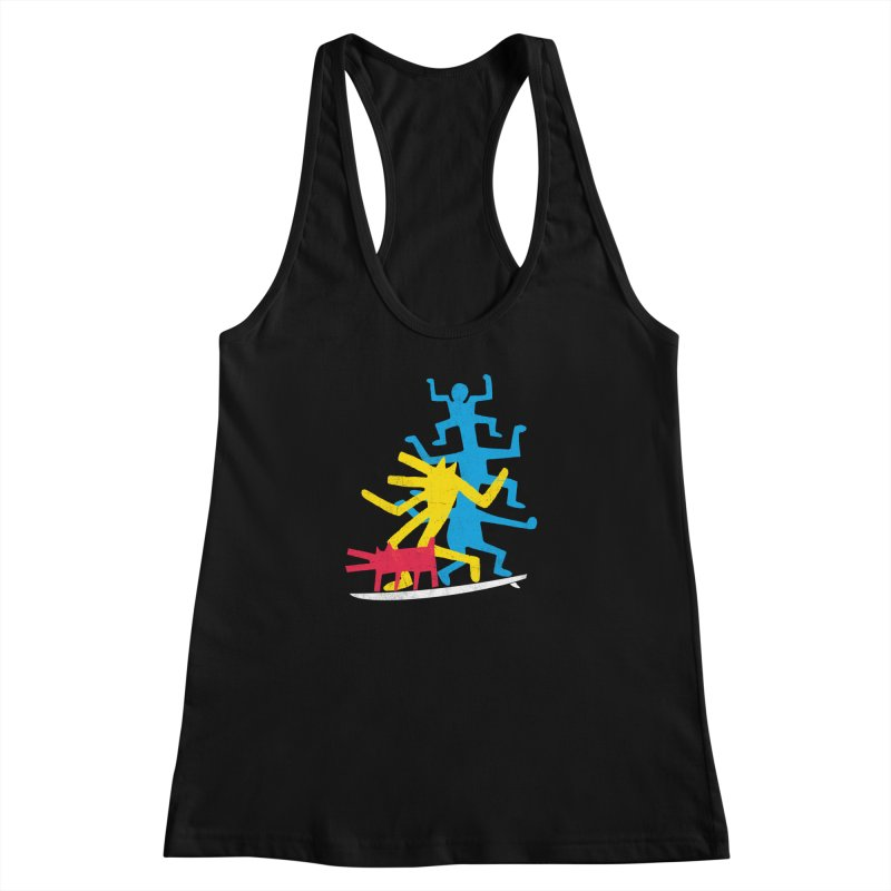 Funboard (threesome version) Women's Racerback Tank by bulo