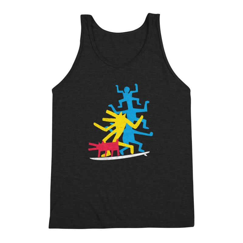 Funboard (threesome version) Men's Triblend Tank by bulo