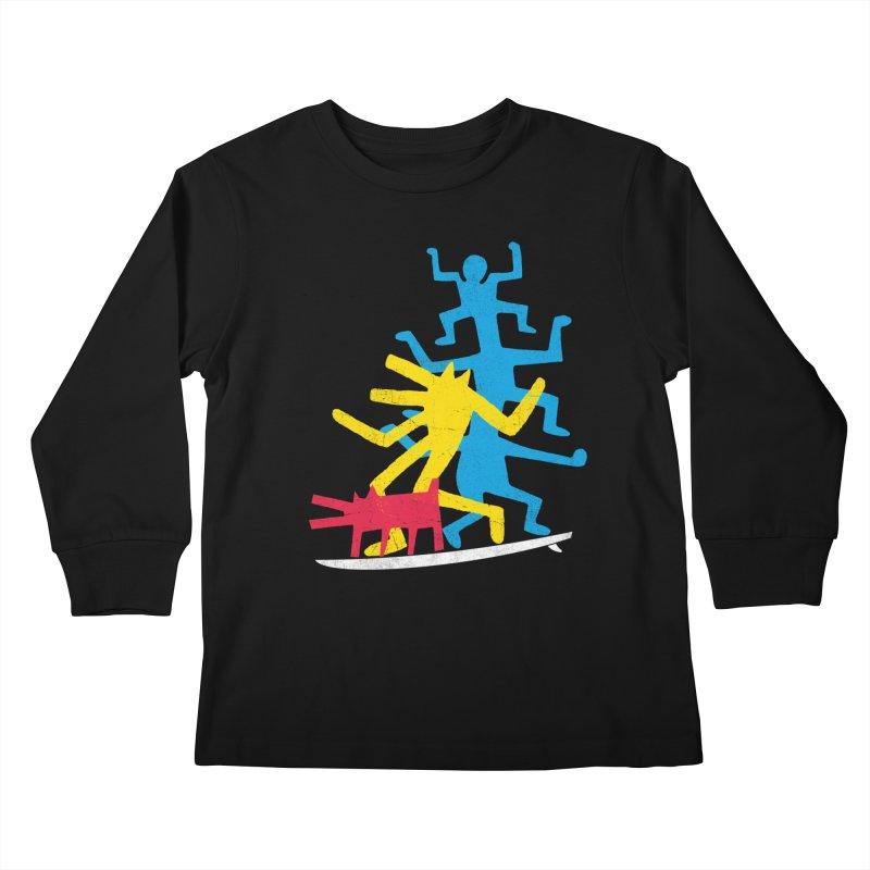 Funboard (threesome version) Kids Longsleeve T-Shirt by bulo