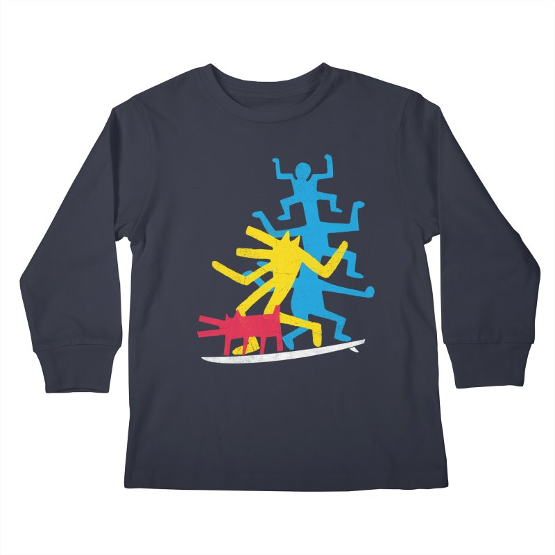 Funboard (threesome version) Kids Longsleeve T-Shirt by bulo