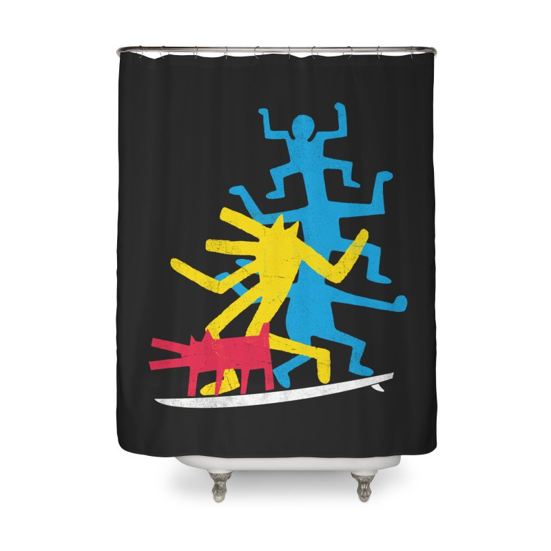 Funboard (threesome version) Home Shower Curtain by bulo