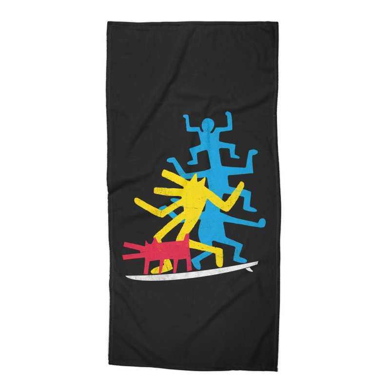 Funboard (threesome version) Accessories Beach Towel by bulo