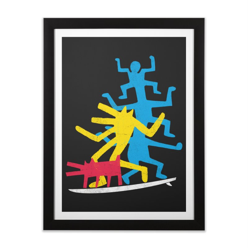 Funboard (threesome version) Home Framed Fine Art Print by bulo