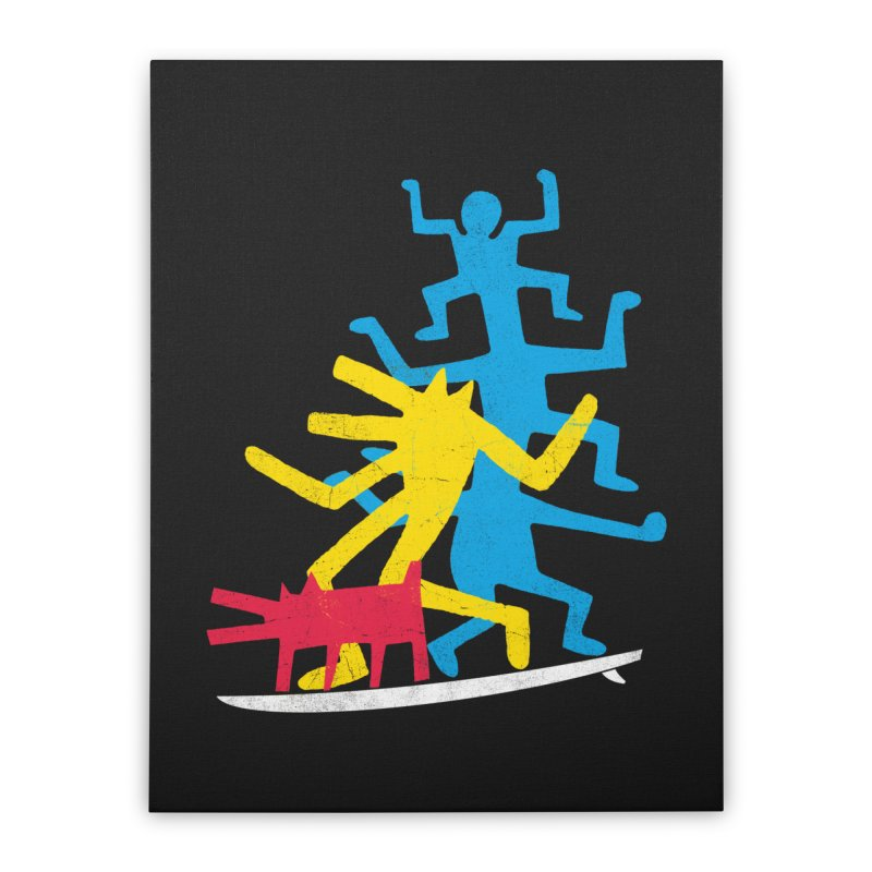 Funboard (threesome version) Home Stretched Canvas by bulo