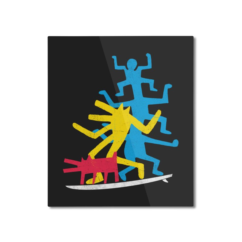 Funboard (threesome version) Home Mounted Aluminum Print by bulo