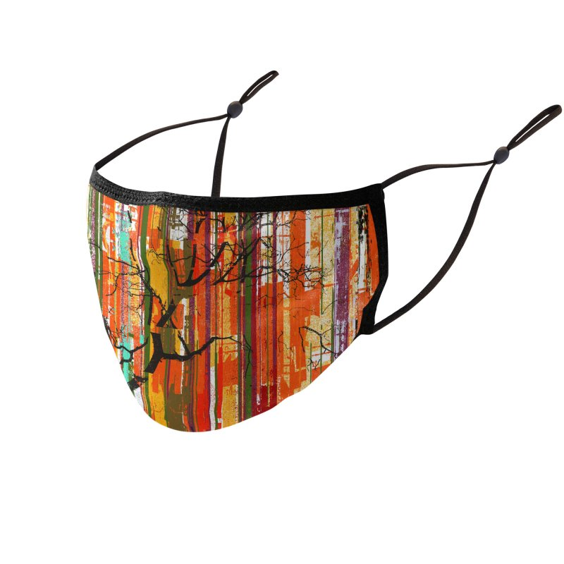 Fusion Autumn (Vertical Version) Accessories Face Mask by bulo
