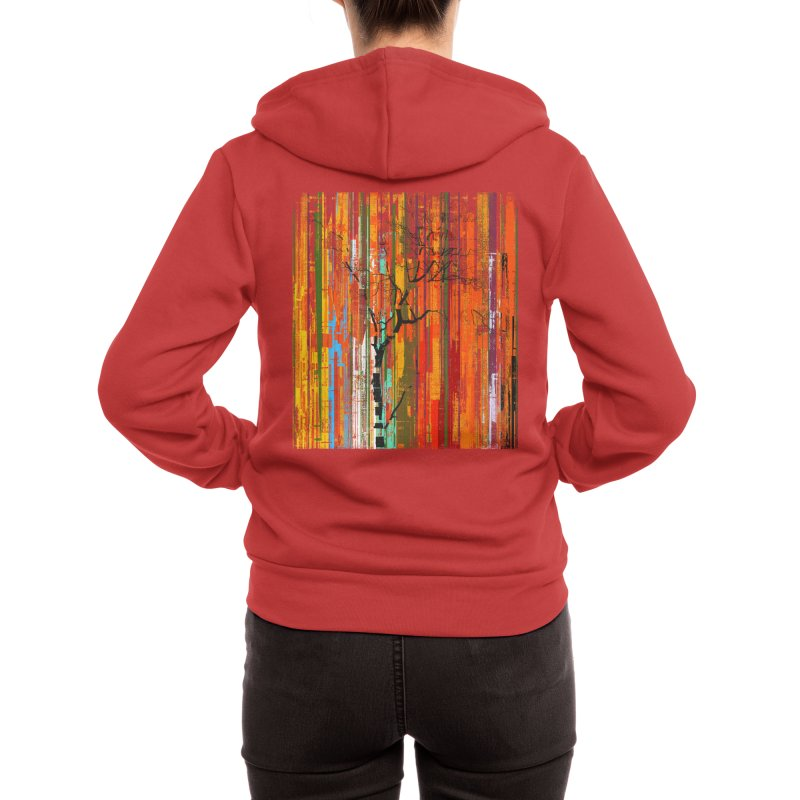 Fusion Autumn (Vertical Version) Women's Zip-Up Hoody by bulo