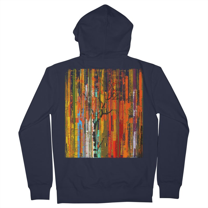 Fusion Autumn (Vertical Version) Men's French Terry Zip-Up Hoody by bulo