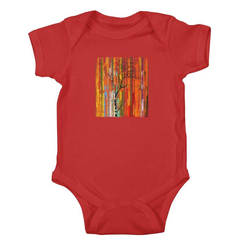 Fusion Autumn (Vertical Version) Kids Baby Bodysuit by bulo