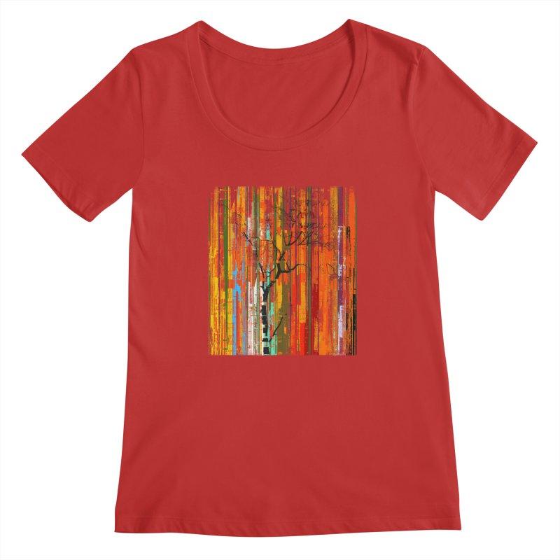 Fusion Autumn (Vertical Version) Women's Regular Scoop Neck by bulo