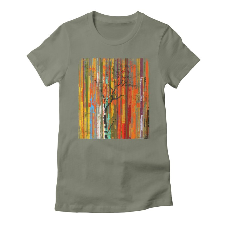 Fusion Autumn (Vertical Version) Women's Fitted T-Shirt by bulo