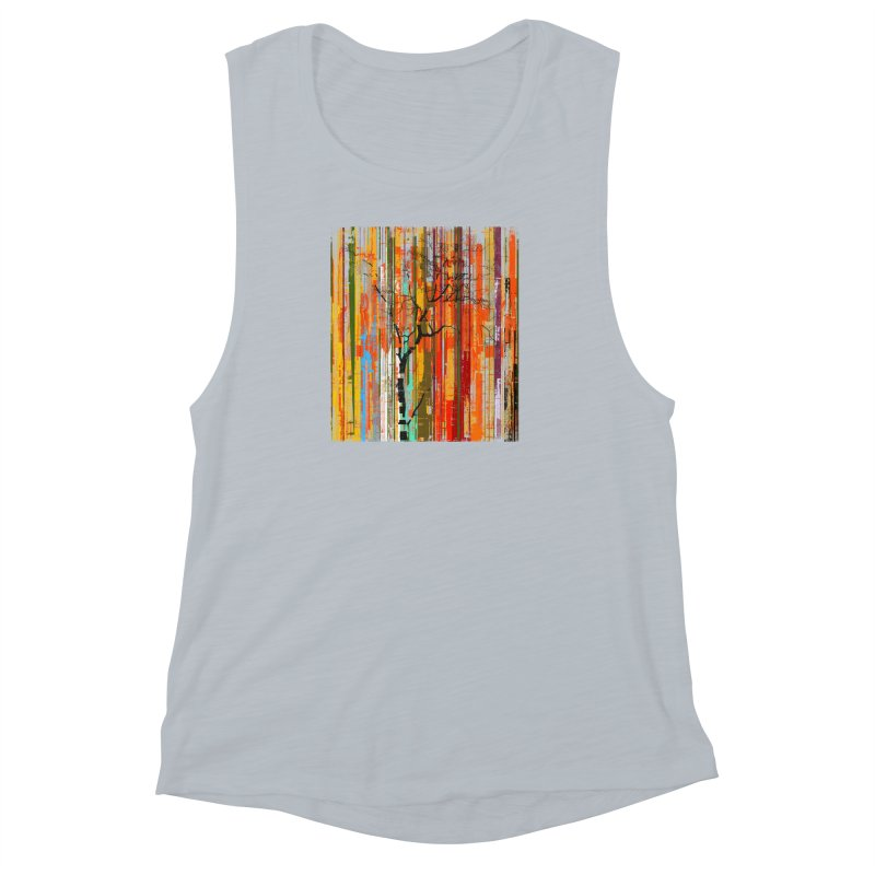 Fusion Autumn (Vertical Version) Women's Muscle Tank by bulo