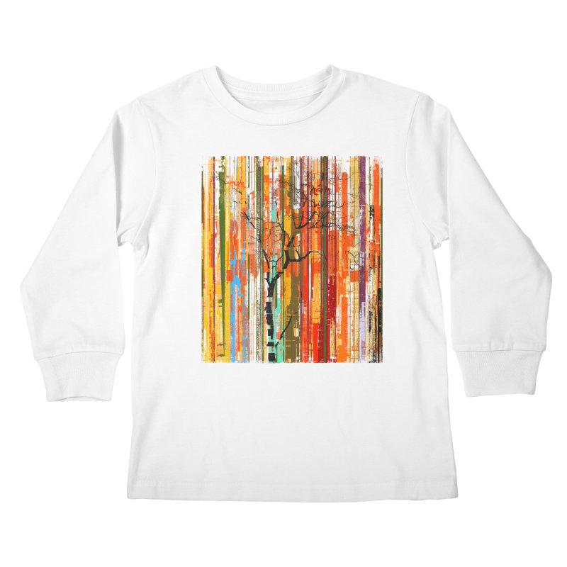 Fusion Autumn (Vertical Version) Kids Longsleeve T-Shirt by bulo