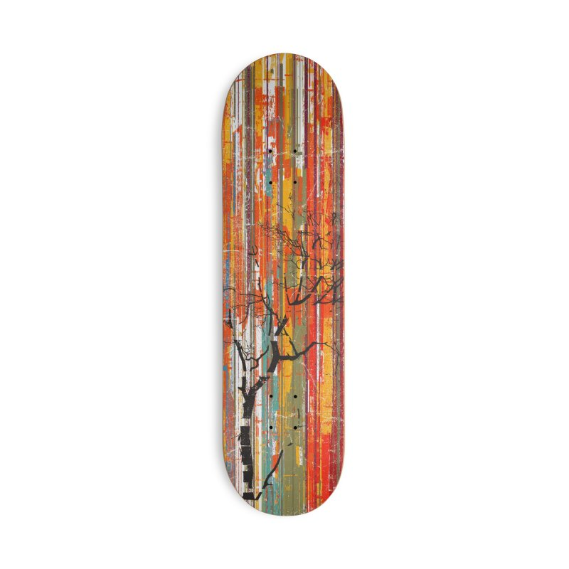 Fusion Autumn (Vertical Version) in Deck Only Skateboard by bulo
