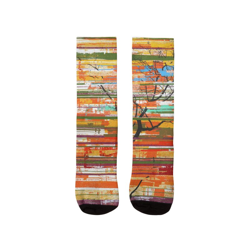 Fusion Autumn (Vertical Version) Men's Socks by bulo