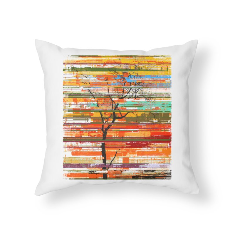 Fusion Autumn Home Throw Pillow by bulo