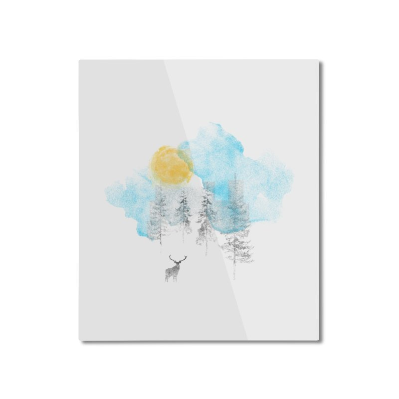 Misty Home Mounted Aluminum Print by bulo