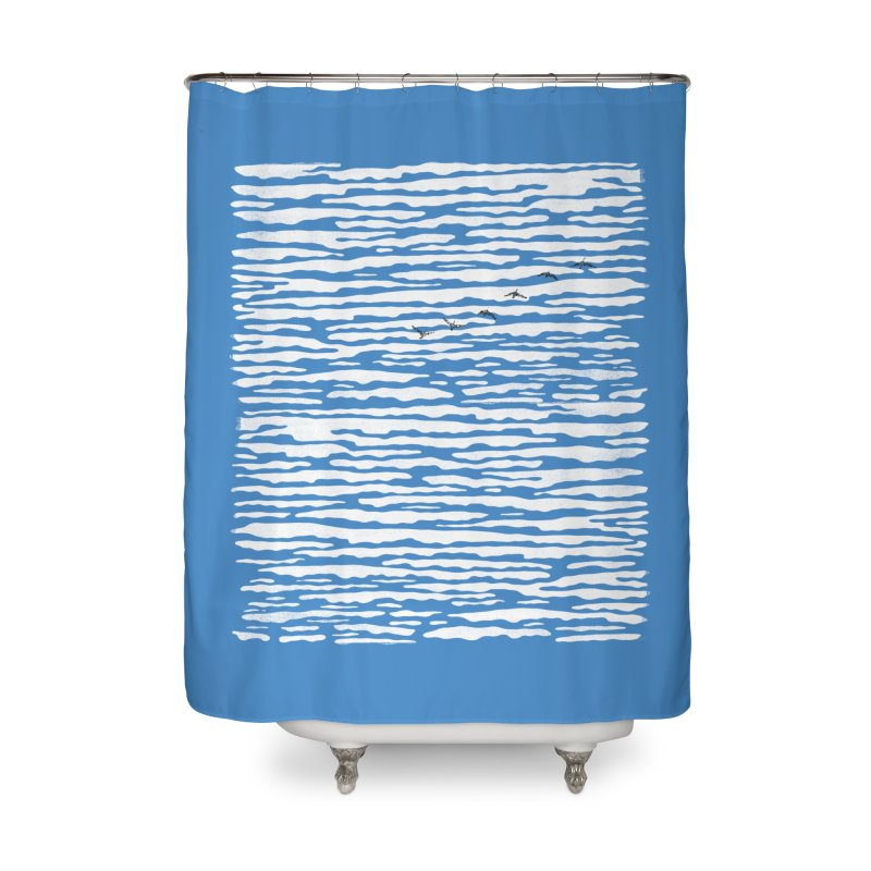 Journey to Summer Home Shower Curtain by bulo